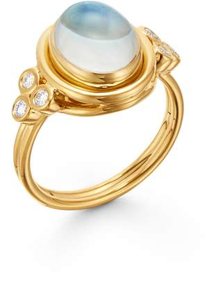 Temple St. Clair Classic Oval Ring with Diamonds