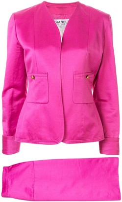 Chanel Pre-Owned CC logos button setup suit jacket