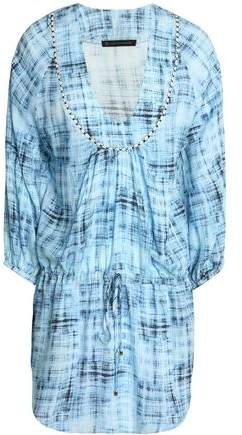 Embroidered Printed Gauze Coverup