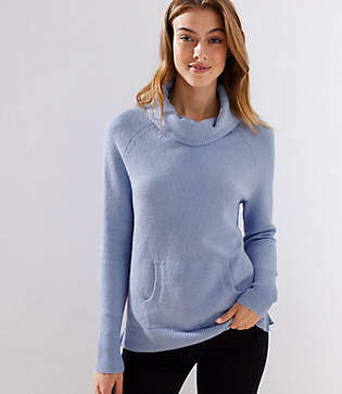 LOFT Turtleneck Pocket Sweater