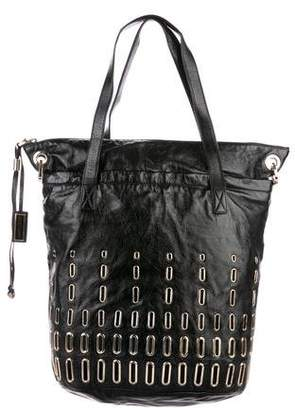 Jimmy Choo Grommet-Embellished Leather Tote