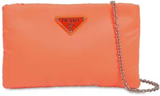 Prada Small Puffer Nylon Clutch