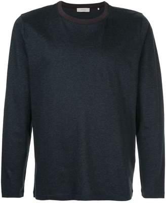 Cerruti stripe detail long sleeve T-shirt