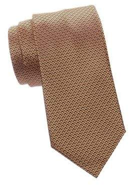 Ermenegildo Zegna Men's Diamond Silk Tie - Orange