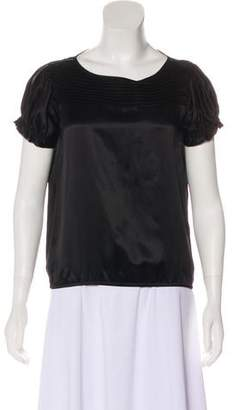 Blumarine Silk Short Sleeve Top