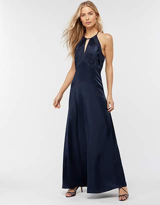 Rhea Satin Lace Maxi Bridesmaid Dress