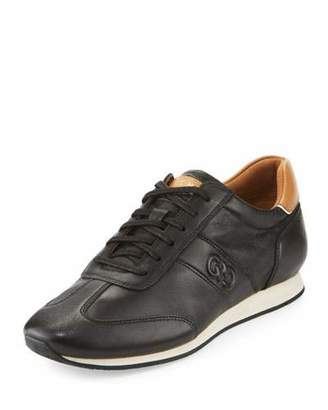 Cole Haan Trafton Grand.OS Vintage Leather Trainer, Black $150 thestylecure.com