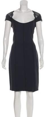 Blumarine Lace-Paneled Sheath Dress Lace-Paneled Sheath Dress