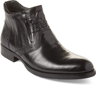 Robert Graham Black Gordon Skull Leather Boots