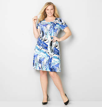 Avenue Paint Brush Fit and Flare Dress