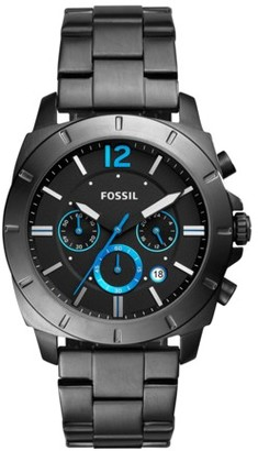 Fossil Privateer Sport Chronograph Smoke Stainless Steel Watch Jewelry IE
