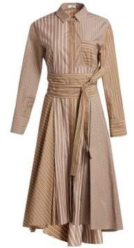 Brunello Cucinelli Cotton Poplin Stripe Shirtdress