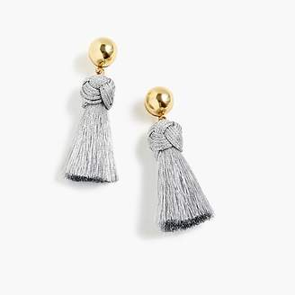 J.Crew Ball and tassel earrings