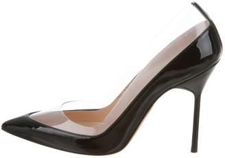 Manolo Blahnik Black Plastic Heels