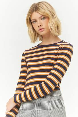 Forever 21 Striped Long Sleeve Top