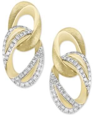 Effy D'Oro by Diamond Link Drop Earrings (1/4 ct. t.w.) in 14k Gold