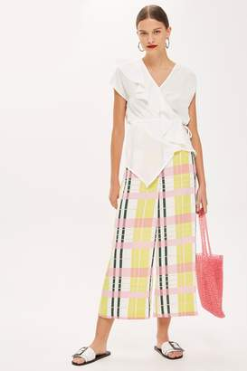 Topshop Womens Bright Check Culottes - Multi