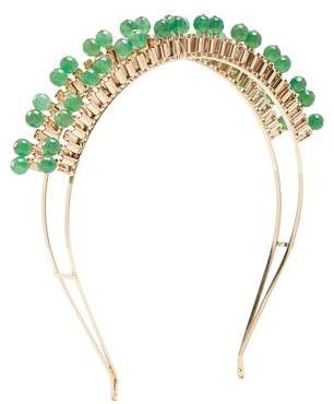 Rosantica By Michela Panero - Cleopatra Gold Tone Quartz Headband - Womens - Green