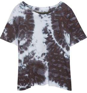 Enza Costa Tie-Dyed Pima Cotton-Jersey T-Shirt