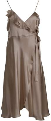 BEIGE Roses Are Red - Aloise Silk Dress in Golden