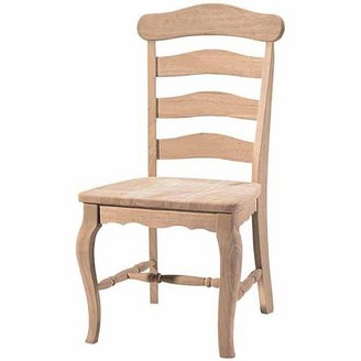INC International Concepts International Concepts C-219P Country French Chair with Solid Seat, Ready To Finish