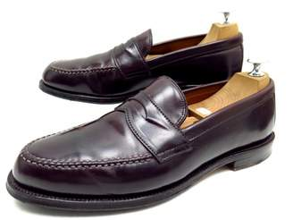Alden Burgundy Leather Flats