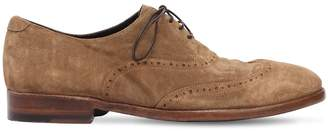 Alberto Fasciani Washed Suede Oxford Lace-Up Shoes