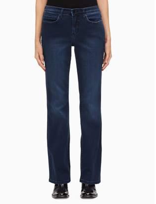 Calvin Klein curvy bootcut mid-blue jeans