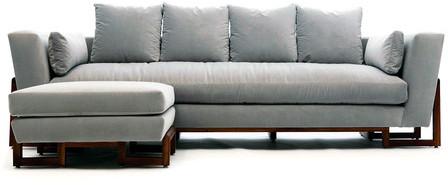 Artless LRG Sofa & Ottoman Fog Velvet