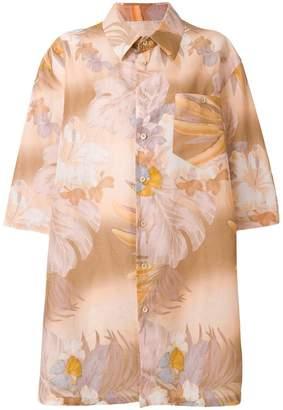 Maison Margiela oversized floral shirt