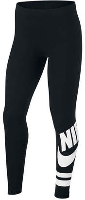 Nike Big Girls Graphic-Print Active Leggings