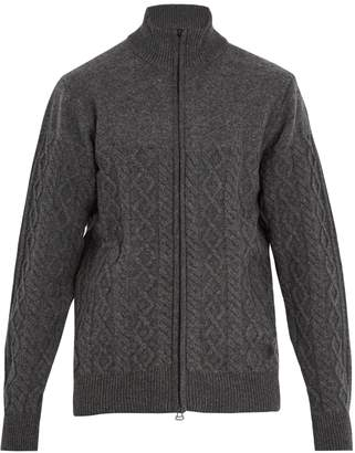 adidas BY WINGS + HORNS Zip-through cable-knit wool cardigan