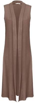 Roland Mouret Fashions Ladies Womens Sleeveless Long Maxi Boyfriend Cadigan Shrug