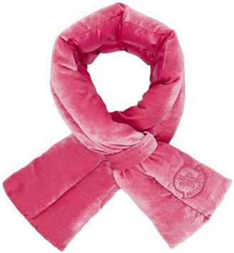 Moncler Pink Velvet Scarf