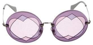 Miu Miu Round Tinted Sunglasses