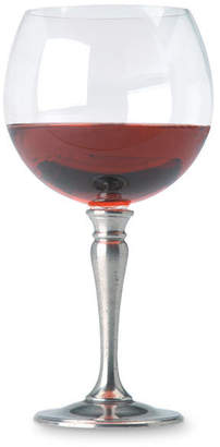 Handmade Italian Pewter & Lead Free Crystal Balloon Wine Glass