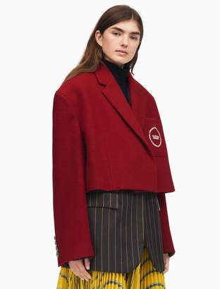 Calvin Klein oversized single-breasted cropped coat