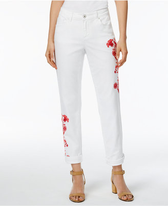 Style & Co Embroidered Boyfriend Jeans, Only at Macy's $64.50 thestylecure.com