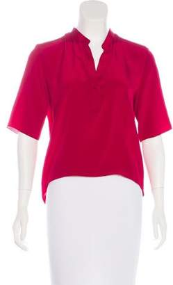 Jenni Kayne Three-Quarter Sleeves Silk Top