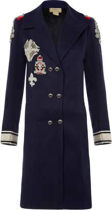 Nadya Shah Rae Epaulette Overcoat