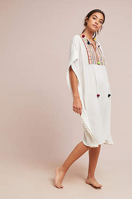 Anthropologie Bilson Embroidered Caftan