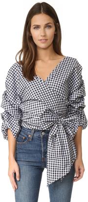 MLM LABEL Salo Wrap Shirt $175 thestylecure.com