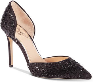 Badgley Mischka Alexandra Embelished Pointed-Toe Evening Pumps Women Shoes