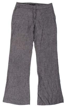 Theory Linen Low-Rise Pants