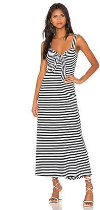 MDS Stripes Knit Tie Front Dress