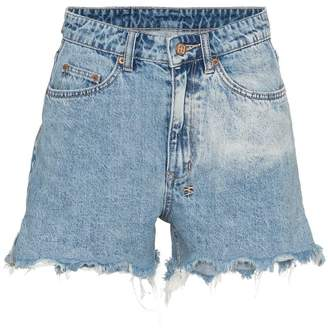 Ksubi Rise N Hi distressed denim shorts