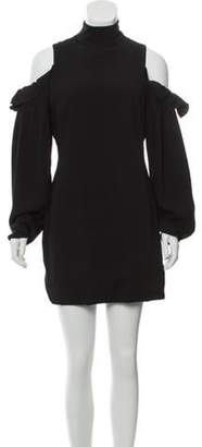 Aq/Aq Long Sleeve Mini Dress Black Long Sleeve Mini Dress