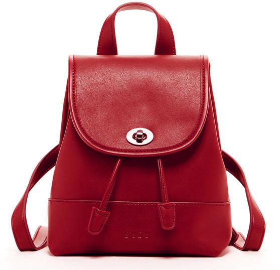 Susu Handbags - Nicole - Leather Backpack Black