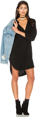 Michael Stars 3/4 Sleeve Split Neck Tunic $148 thestylecure.com