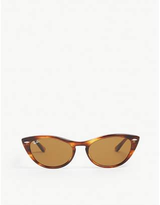 Ray-Ban RB4314 Nina cat-eye-frame Havana sunglasses
